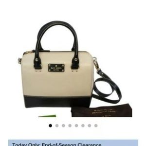 Kate spade Berkeley black white leather satchel